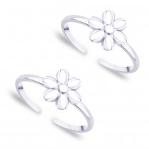 Floral 925 Sterling Silver Toe Ring For Women