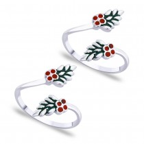 Enamel Toe Ring For Women
