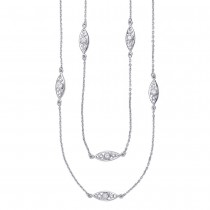 CZ 925 Sterling Silver Long Chain For Women