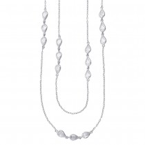 Z 925 Sterling Silver Long Chain For Women