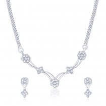 925 Sterling Silver Necklace Set For Women Silver