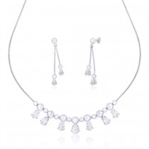 925 Sterling Silver Ball Necklace Set for women NS