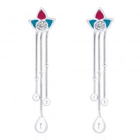 925 sterling silver Half Floral Drop Earrings for Women JOCCBER266I-09