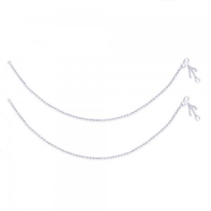 Single Line Twisted Ending with Charm 925 Silver Anklet For Women JOCAN0562S