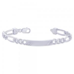 925 Sterling Silver Bracelet For Men Silver-BR0528F JOCBR0528F
