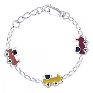 925 Sterling Silver Bracelet For Baby Girl Silver-BR1116S JOCBR1116S