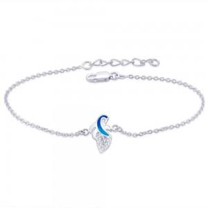 925 Steling Silver Enamelled Peacock Bracelet for Women BRR0363S JOCBRR0363S