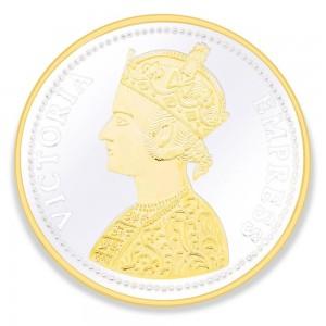 Gold Plated 999 Silver Victoria Empress 50 Gram Coin JOCCOIN-VG50G