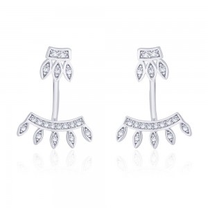 925 Sterling Silver Crown Shape Ear Cuff JOCER2638R