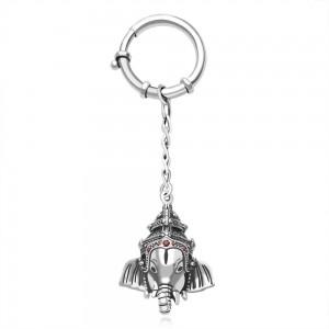 925 Sterling Silver Ganpati Keychain JOCKC1227A