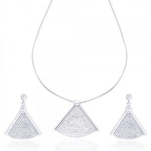 Diamond Cut Chain Necklace Set for Women JOCNS0903S