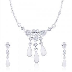 925 Sterling Silver Pendant Set For Women Silver