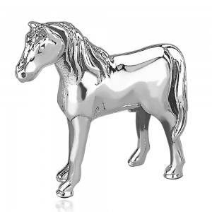 925 Sterling silver Standing Horse idol