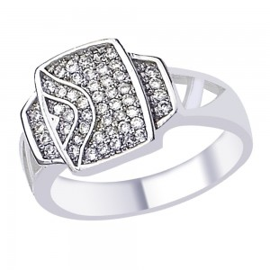 Round Cut White CZ Stunning 925 Sterling Silver Finger Ring For Men