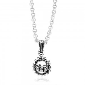 Smiling Sun 925 Sterling Silver Pendant For Men and Women