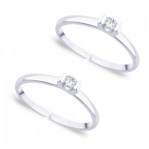 CZ 925 Sterling Silver Toe Ring For Women